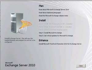 Exchange 2010 install step by step