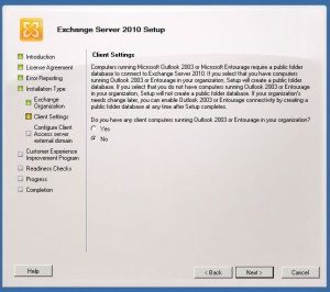How to install exchange 2010