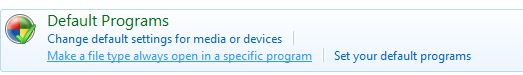 Windows 7 open a file with a specific program