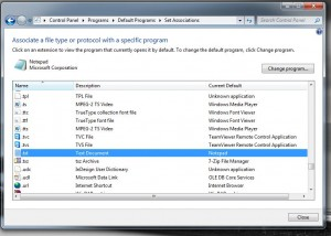 change windows 7 file assocation