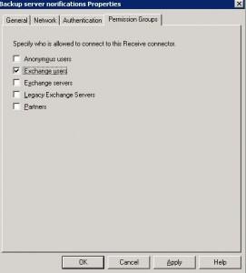exchange servers tab