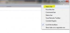 ie9 and 10 select menu bar