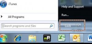 lock windows 7 menu