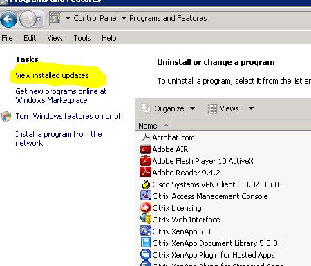Check What Updates Your server Has Installed