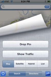 google street maps drop pin