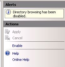 enable directory browsing iis7