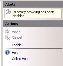 enable directory browsing iis7