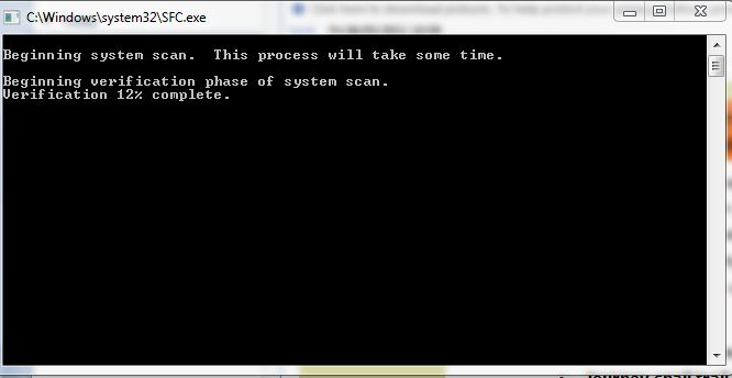system file checker scan