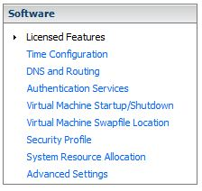 vmware licensed features