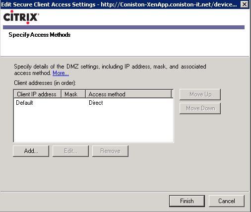 default ipad citrix connection