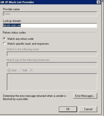 ip block list exchange 2010