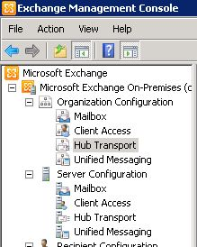 organization  configuration exchange block list