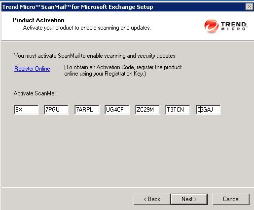 scanmail activation code