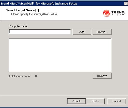 select exchange server for trend