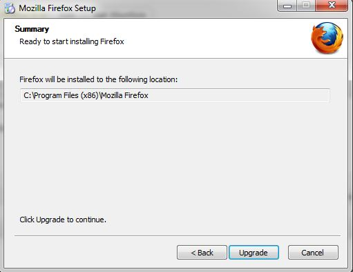 upgrade firefox 10 to firefox 11