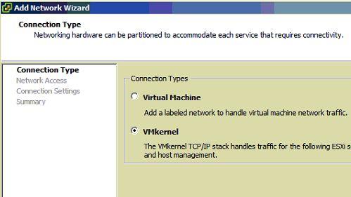 NFS vmware kernel