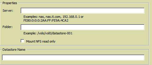 configure nfs in vmware