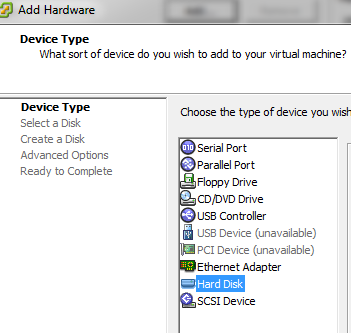 view virtual machine hardware