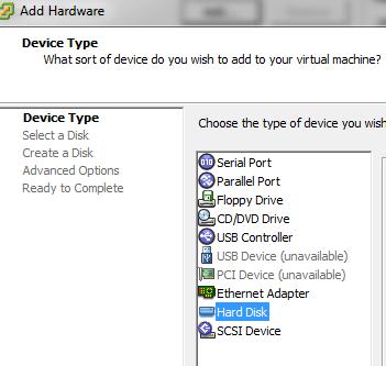 view virtual machine hardware