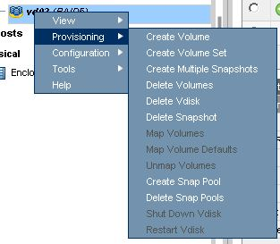 create volume on p2000 vdisk