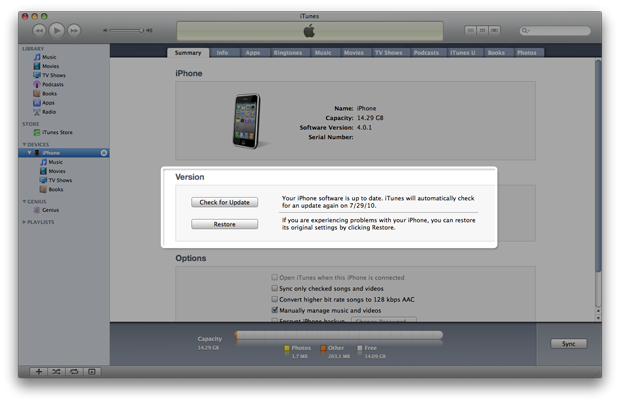 Update The Firmware on iPad 2