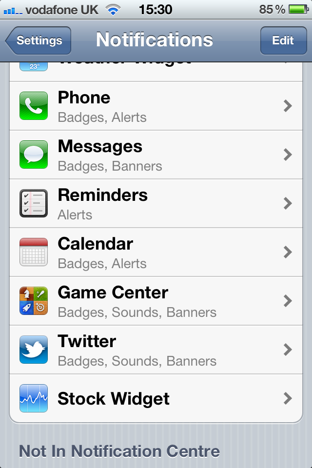 stop iphone sms being shown on screen ios5