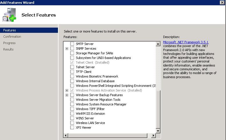 Windows Process Activation Service error
