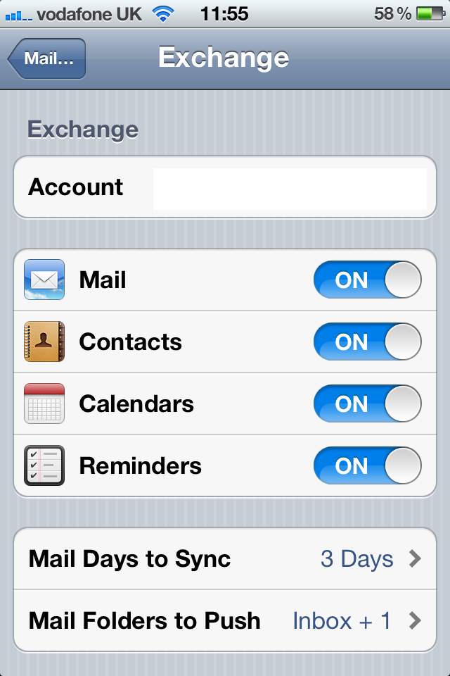 Configure iPad and iPhone for microsoft exchange