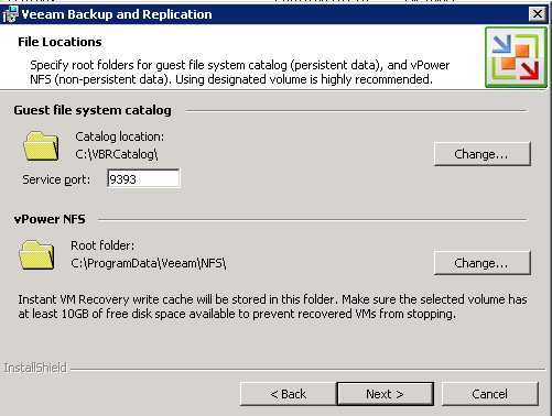 Veeam 6 file locations