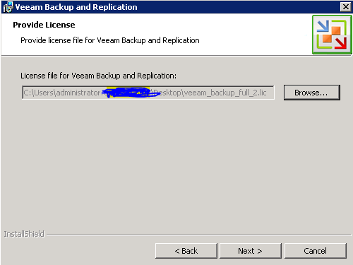 Veeam 6 install license file