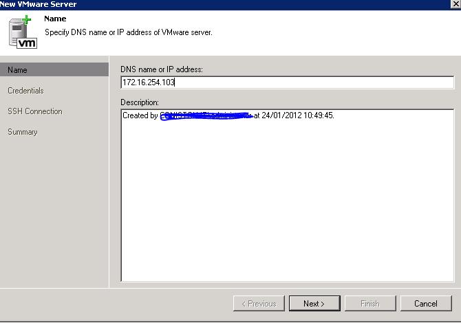 add server to veeeam 6 ip