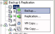 create a veeam backup job