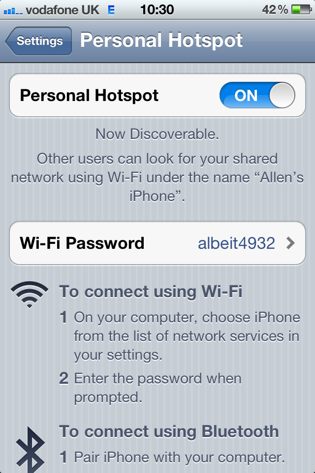 Enable Hotspot function on ipad and iphone