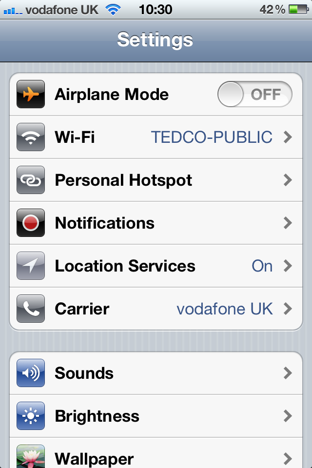 Enable Personal Hotspot on iPhone or ipad