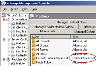 Block Users Seeing Exchange 2010 Global Address List (GAL) – Applies to Exchange 2007 Also
