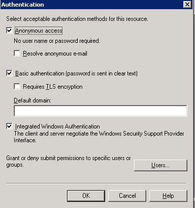 exchange 2003 2010 integrated authentication