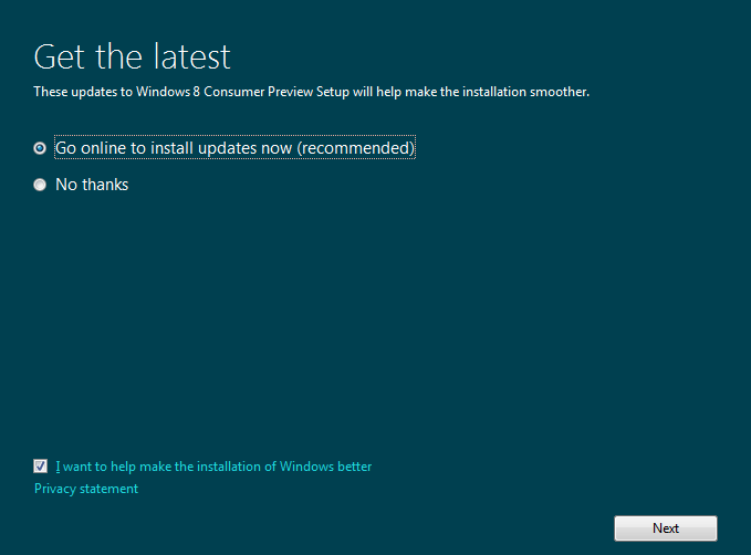 Latest updates for windows 8