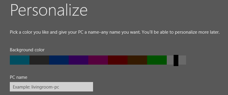 Personalize windows 8 colours