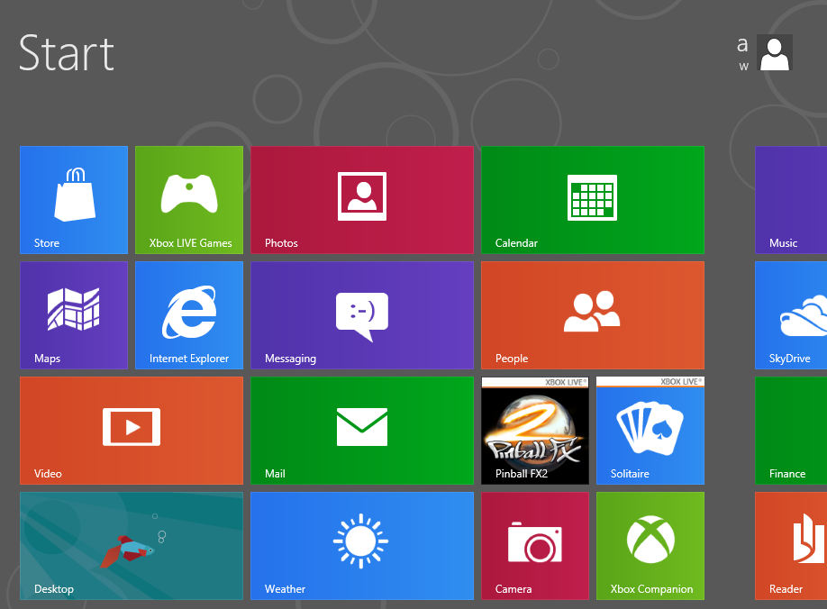 Windows 8 installed