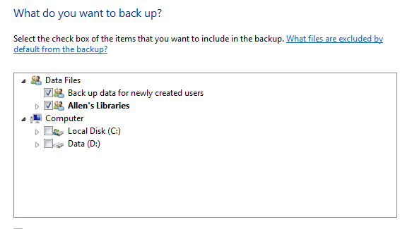 backup data from windows 7