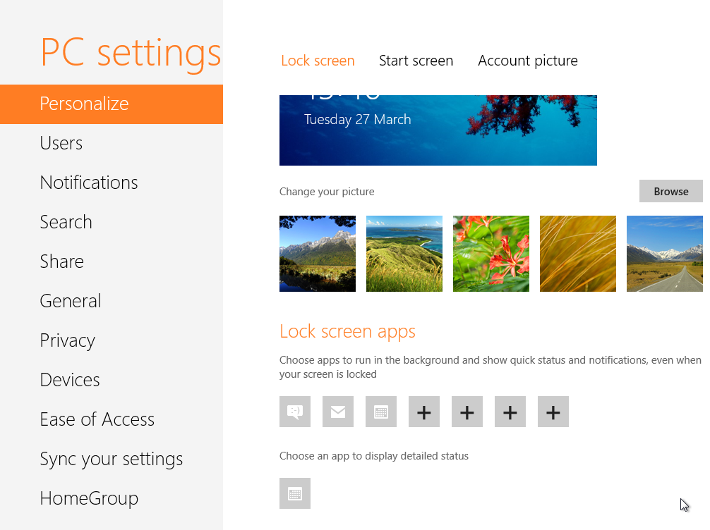 windows 8 control panel settings