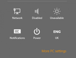 windows 8 more settings control panel