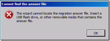 SBS 2011 answer file cannot be located