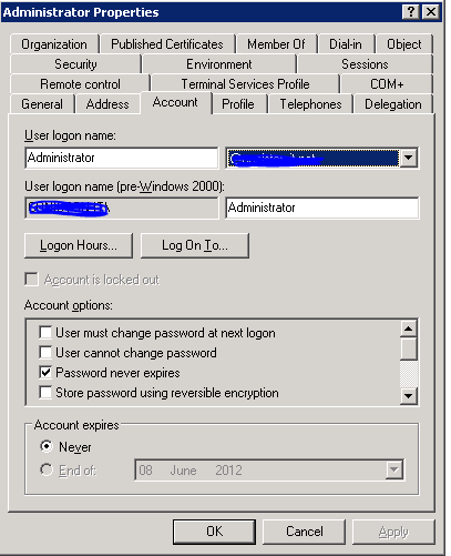 Cannot attach mailbox to to user property expression
