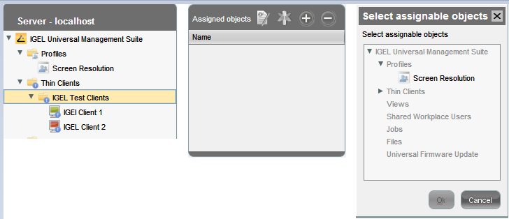 Assign a profile to a folder in IGEL