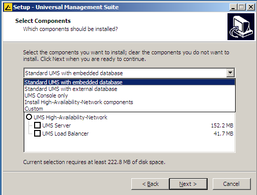 Custom installtion of IGEL Universal Management Suite