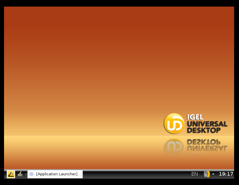 IGEL Thin Client in 800 x 600