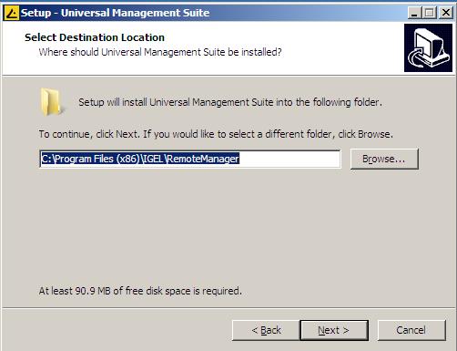 Install directory for IGEL UMS
