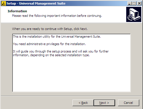 admnistrator permissions to install IGEL UMS