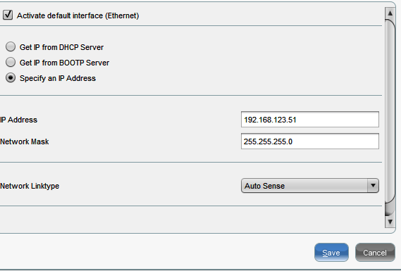 enter a static address into IGEL thin client